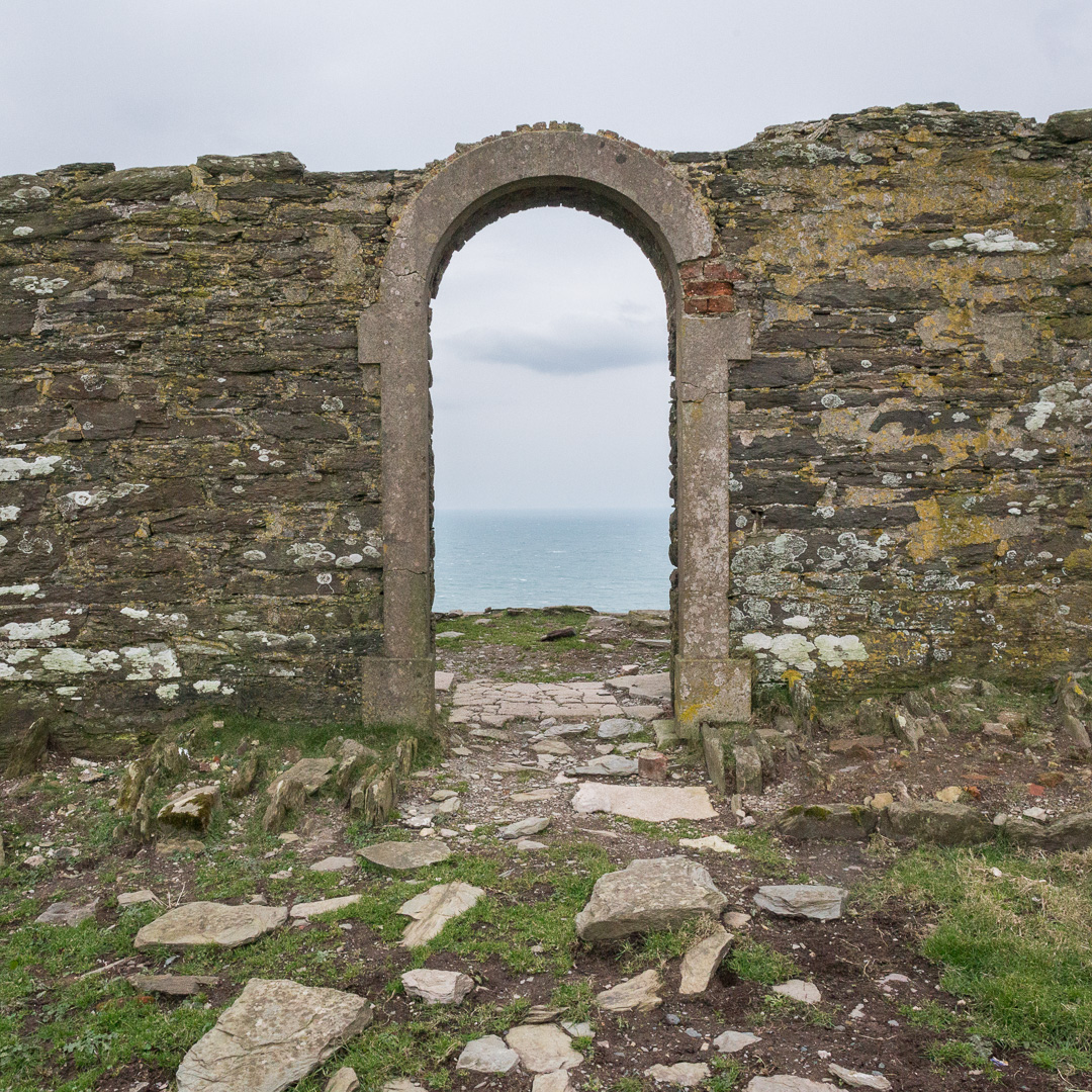 Ruin at Beacon Hill, Devon.