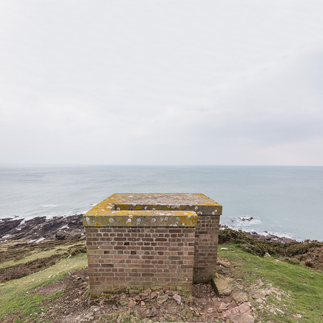 WWII lookout on Gara Point, Devon.