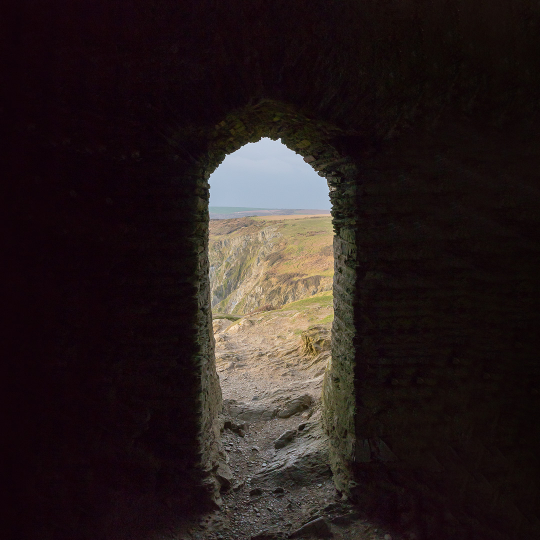 St Michael's Chapel entrance, Rame Head, Cornwall.