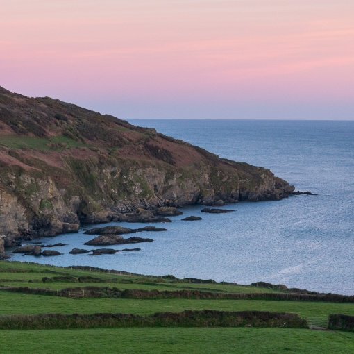 Gell Point at dusk, Cornwall.