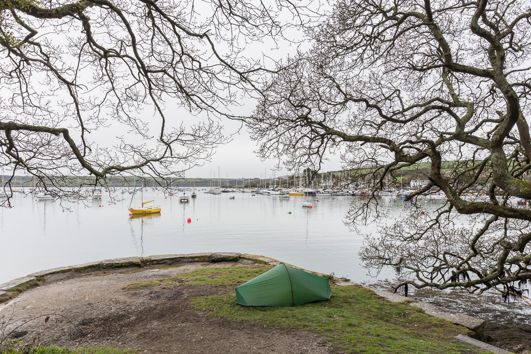 Camp, Greenwood Quay, Cornwall.