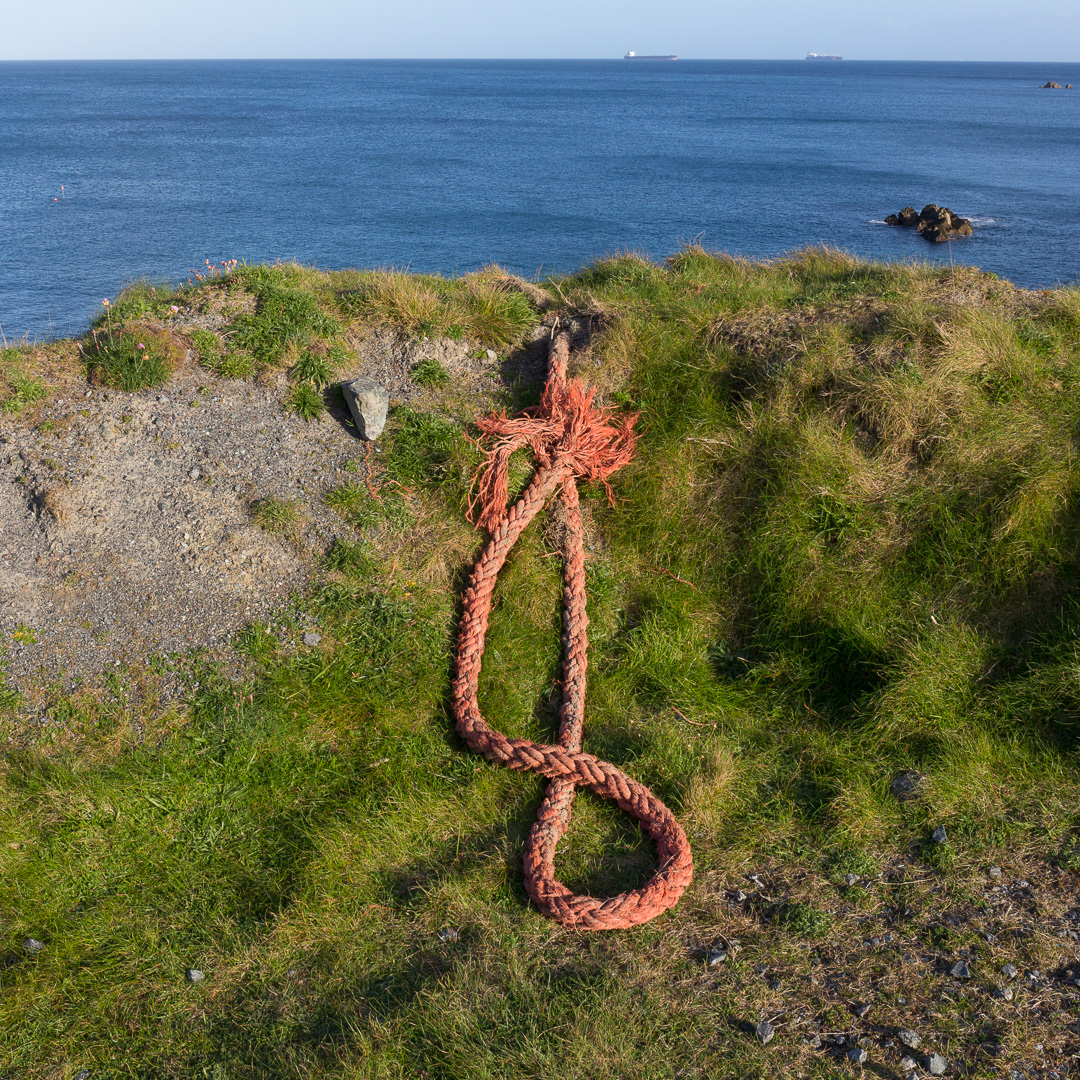 Rope to Nowhere, Dean Point, Cornwall.