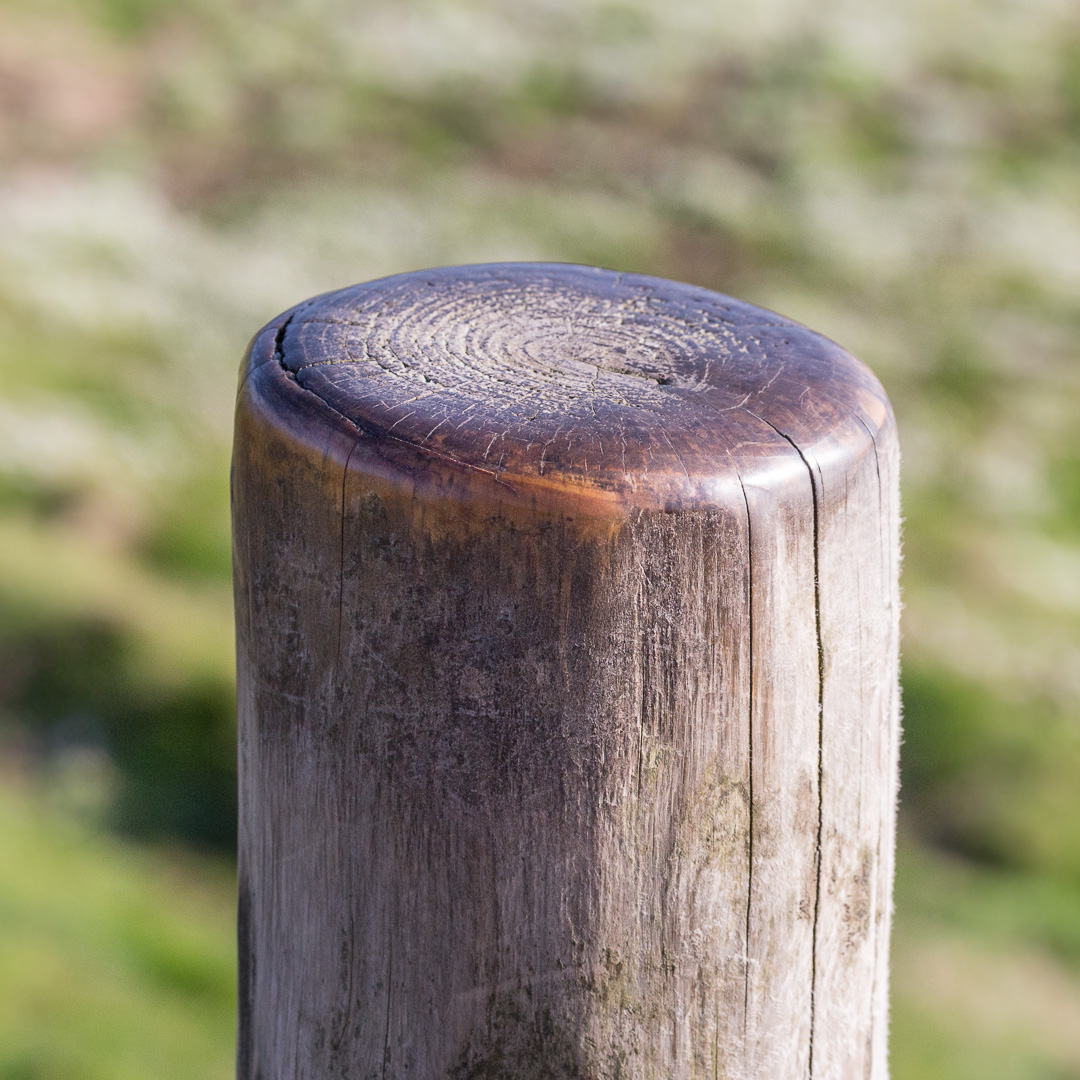 Stile post, Lizard Point, Cornwall.