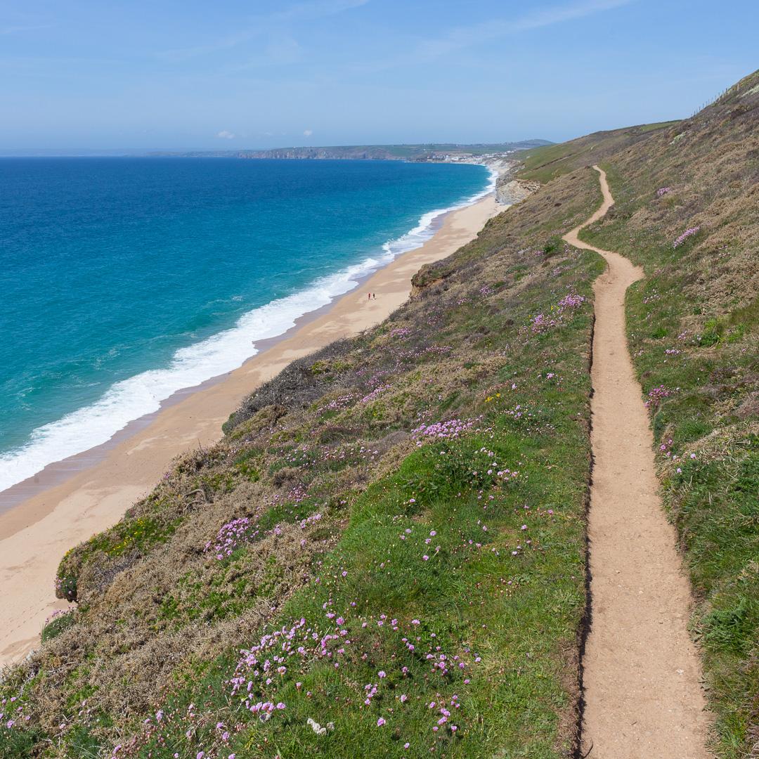 Coastal Path, Porthleven Sands, Cornwall.
