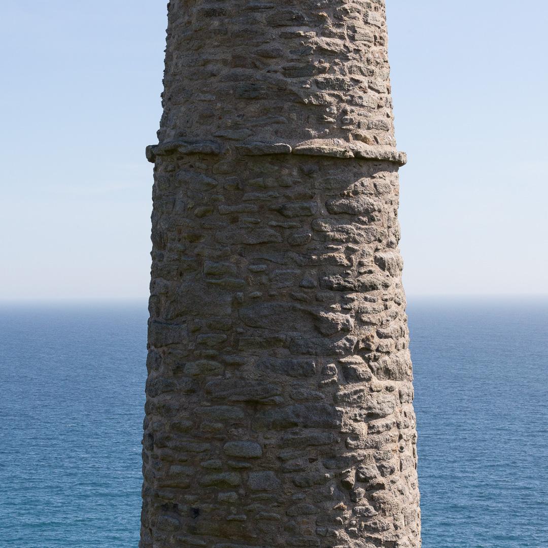 Wheal Trewavas chimney, Cornwall.