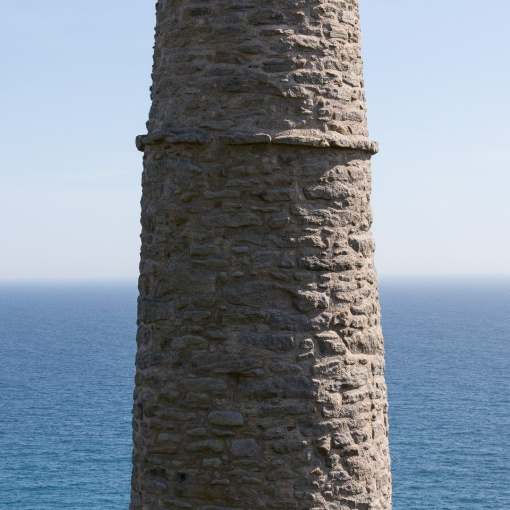 Wheal Trewavas chimney, Cornwall.