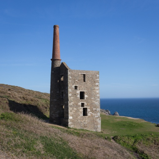 Wheal Prosper Engine House, Copper and tin mine from 1860-66. Kinsey, Cornwall.