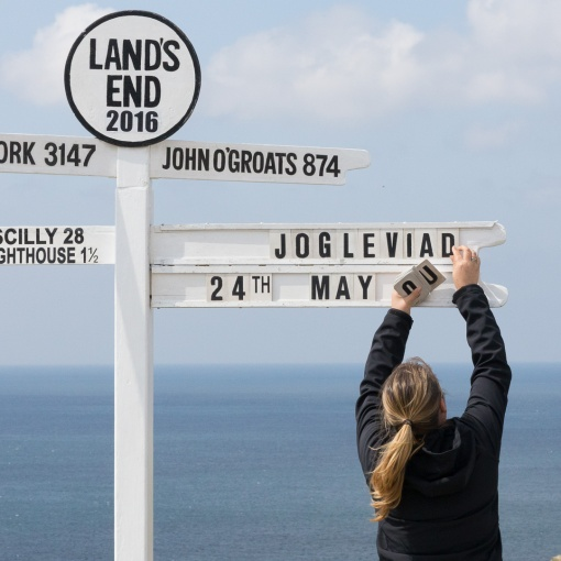 Land's End Signpost, Cornwall.