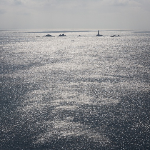 Longships Lighthouse off Land's End, Cornwall.