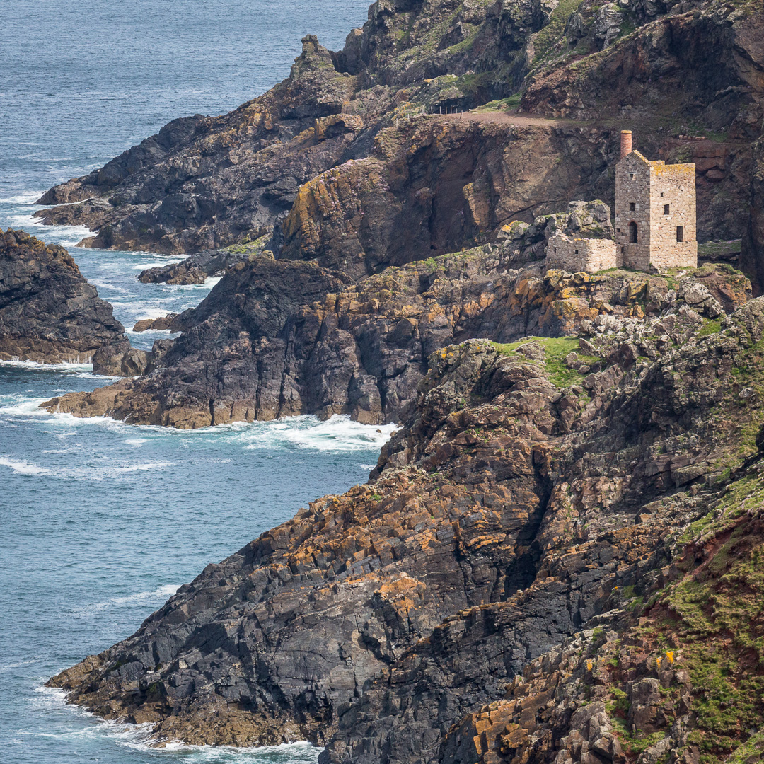 Engine house at Crown Mines, Botallack, Cornwall.