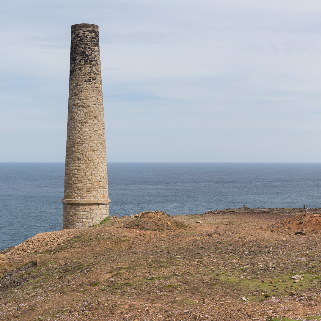 The Calciner stack, Levant Mine, Cornwall.