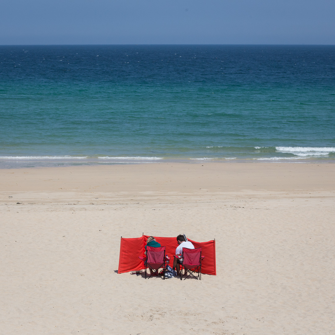 Red & Blue, Porthminster Beach, Cornwall.