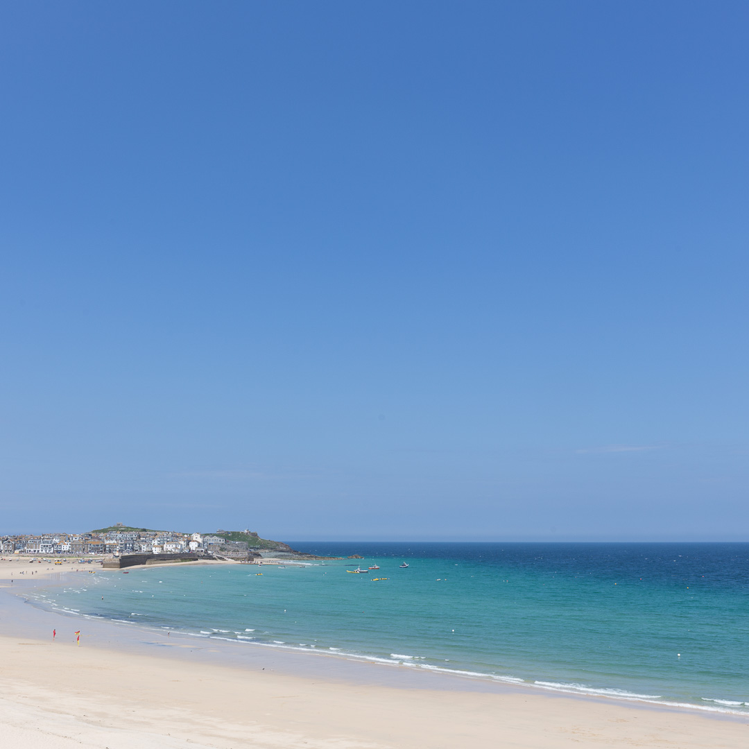 Porthminster Beach, St Ives, Cornwall.