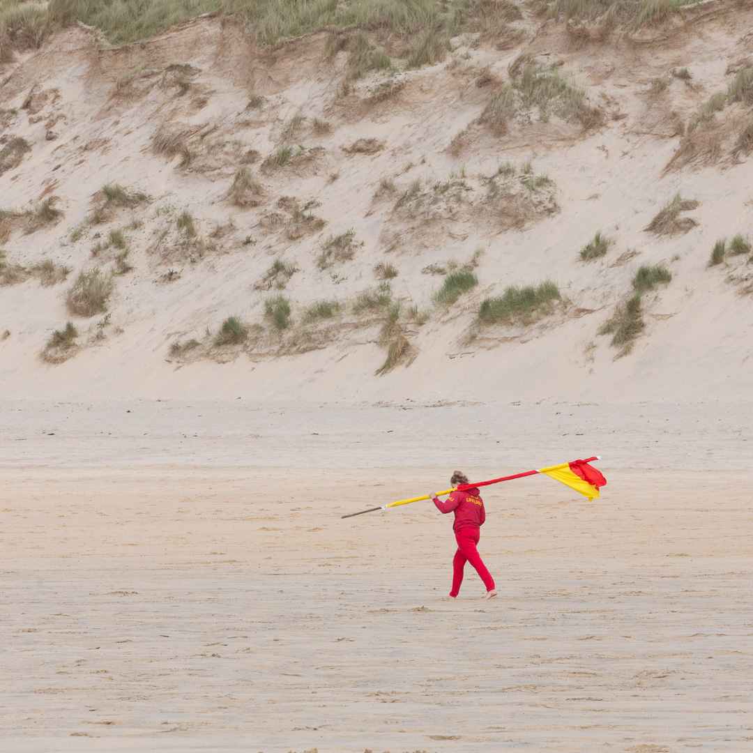 Lifeguard, St Ives Bay, Cornwall.