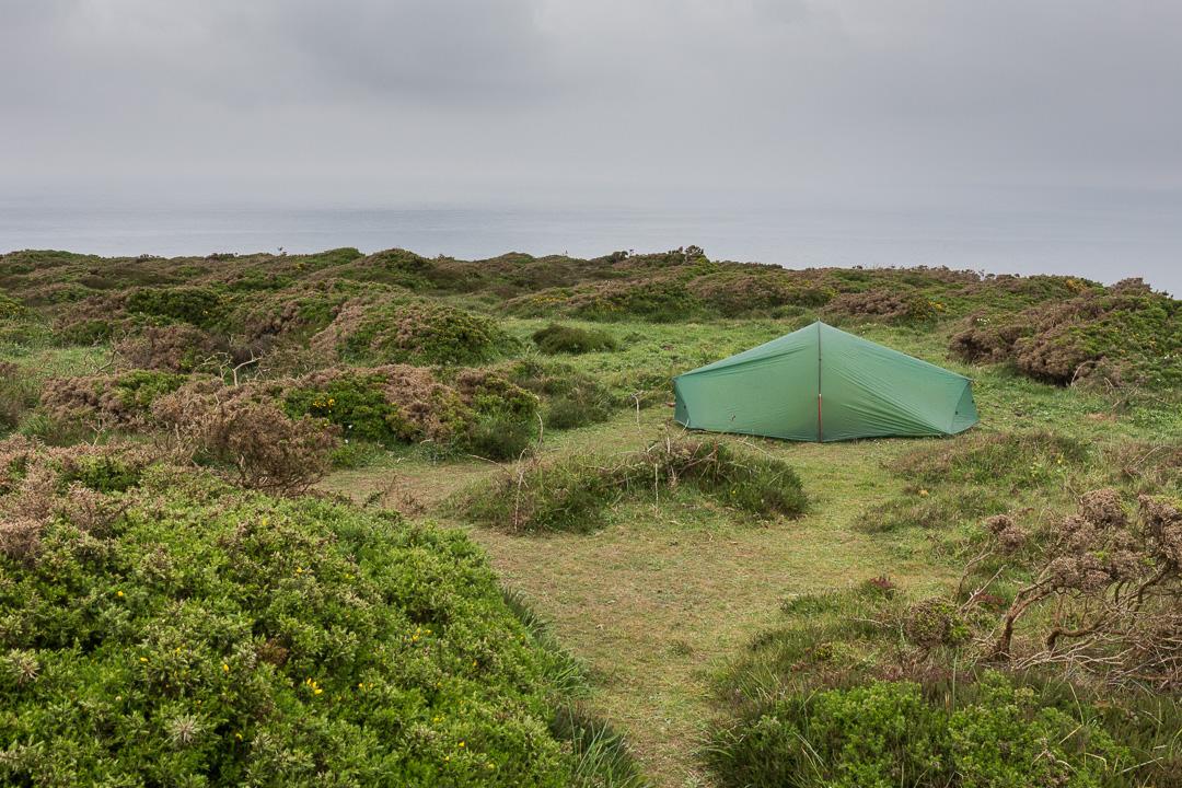 Camp, Navax Point, Cornwall.