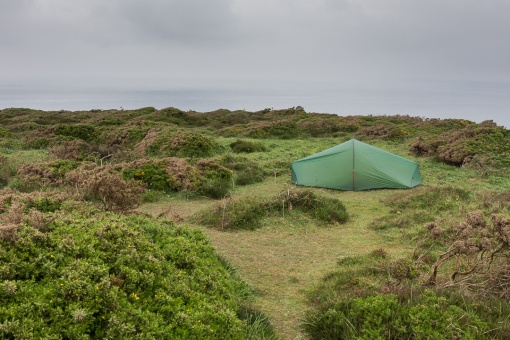 Camp, Navax Point, Cornwall.