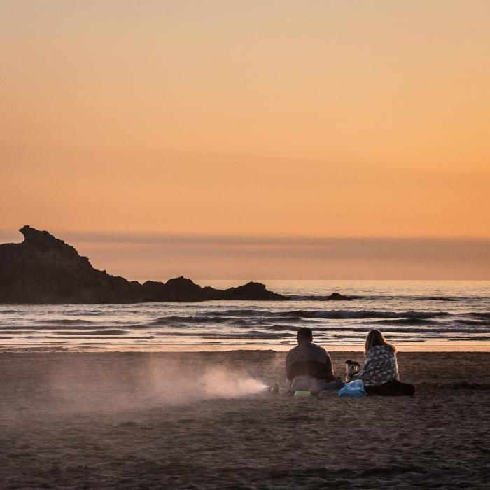 Barbecue, Perran Beach, Cornwall.