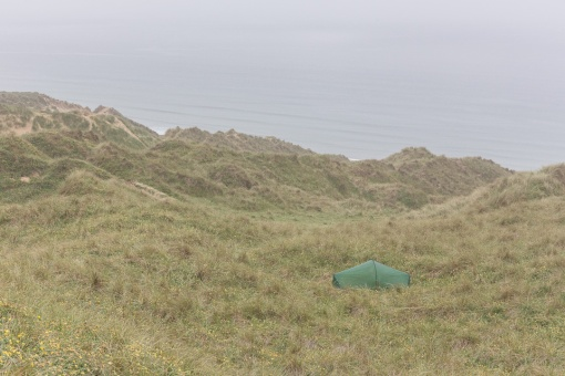 Camp, Penhale Sands, Cornwall.
