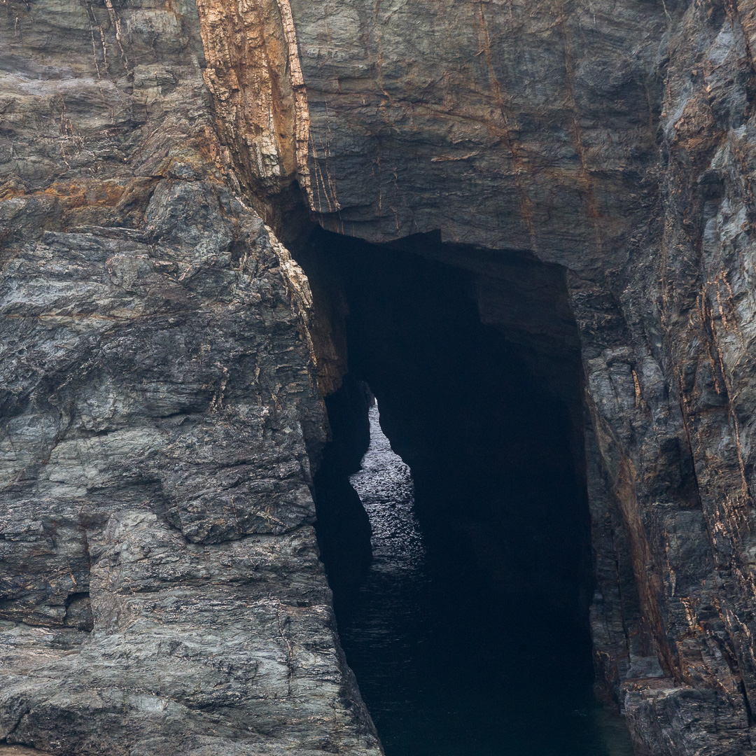 Cave at Hoblyn's Cove, Cornwall.