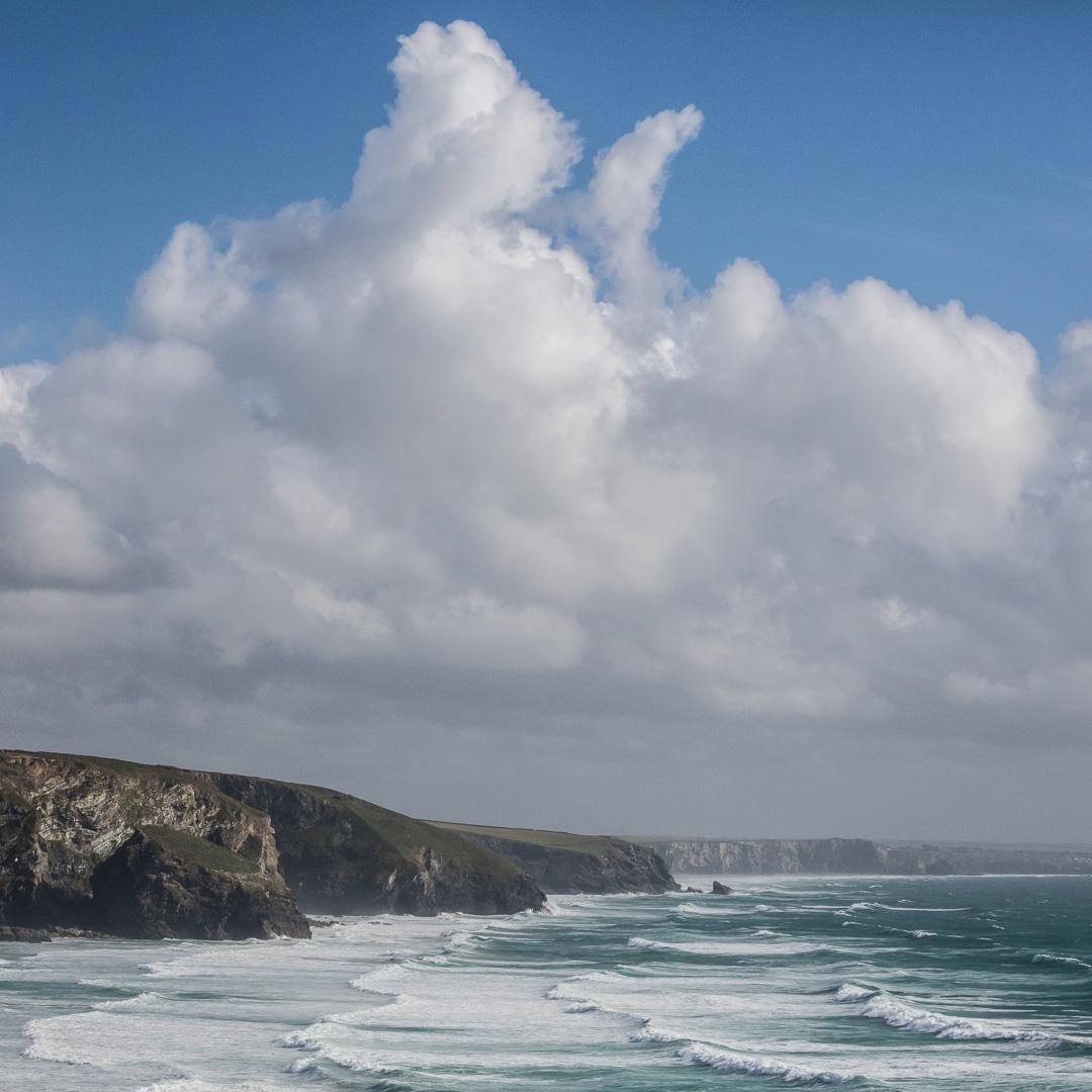 Bedruthan Steps, Whitestone Bay, Cornwall.
