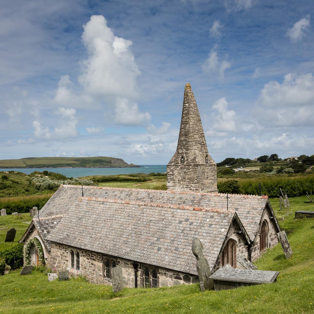 St Enodoc's Church, resting place of John Betjeman, Trebetherick, Cornwall.