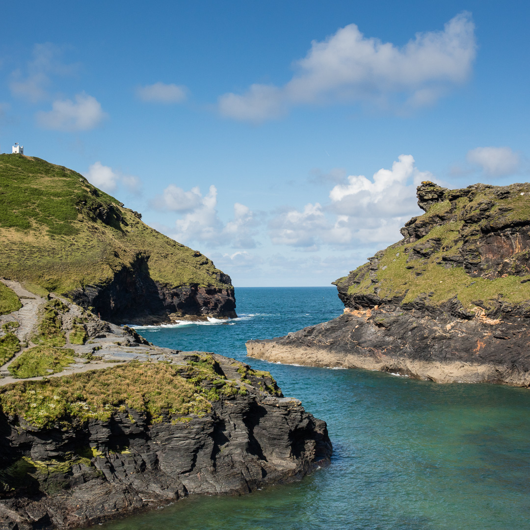 Boscastle Harbour and lookout, Cornwall.