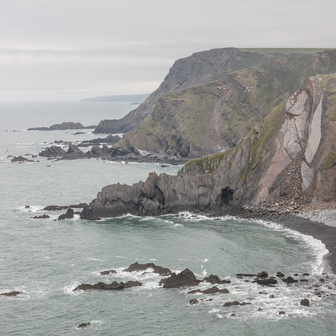 Vicarage Cliff from Higher Sharpnose point, Cornwall.