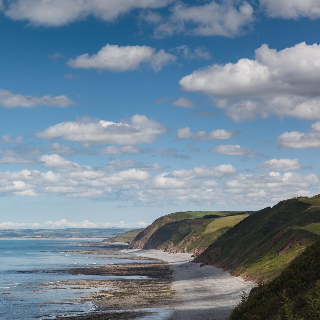 Cliffs toward Westward Ho!, Devon.