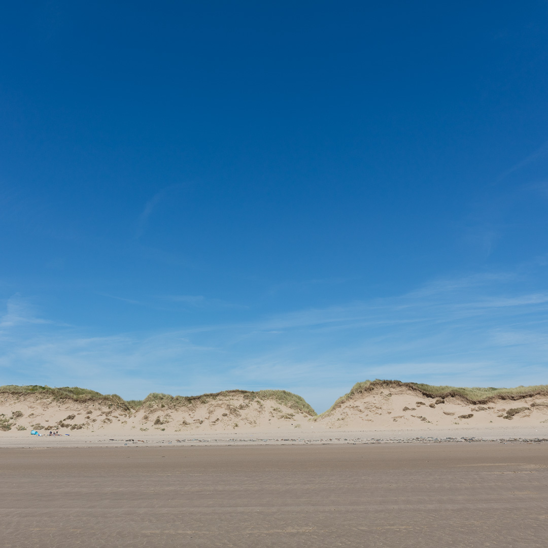 Dunes of Braunton Burrows from Saunton Sands, Devon.