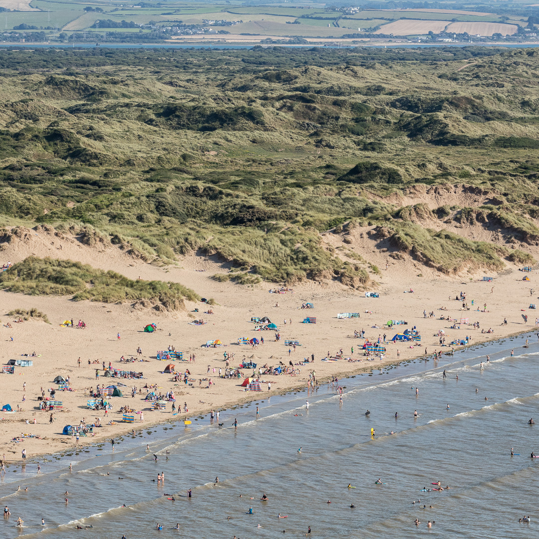 Saunton Sands and Braunton Burrows, Devon.