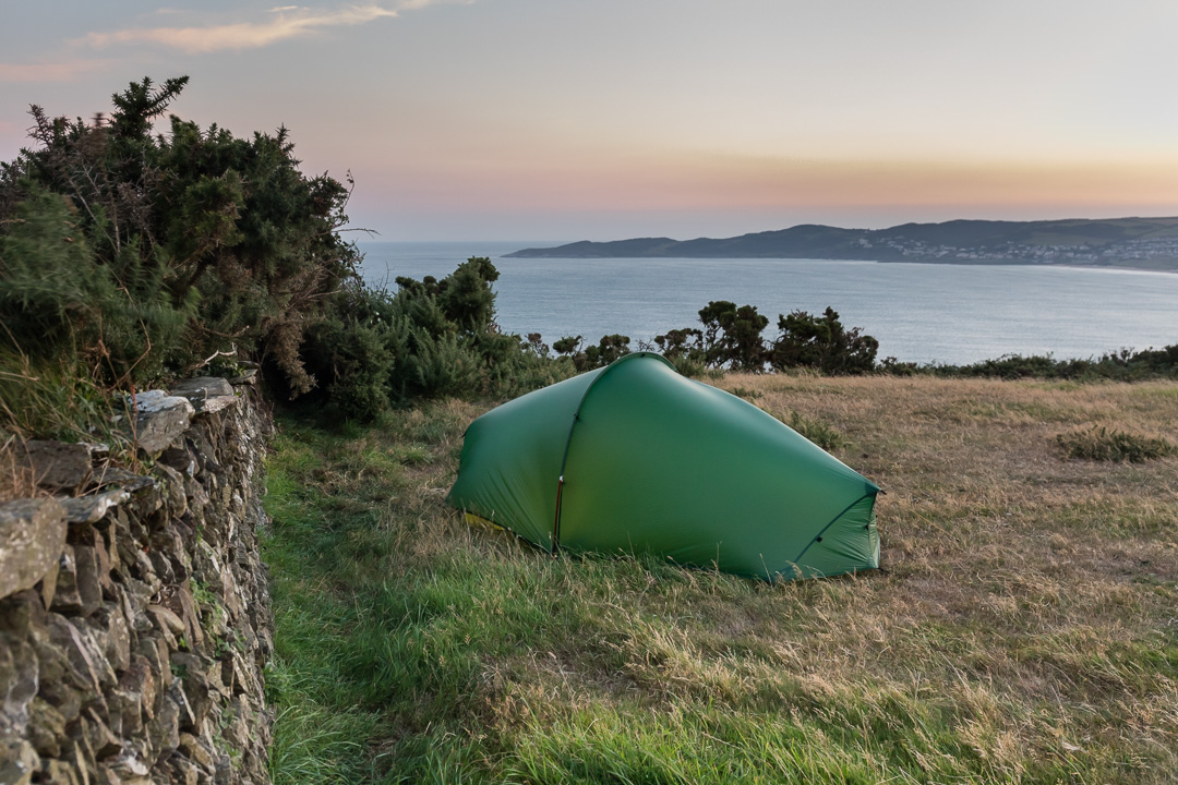 Camp, Baggy Point, Devon.