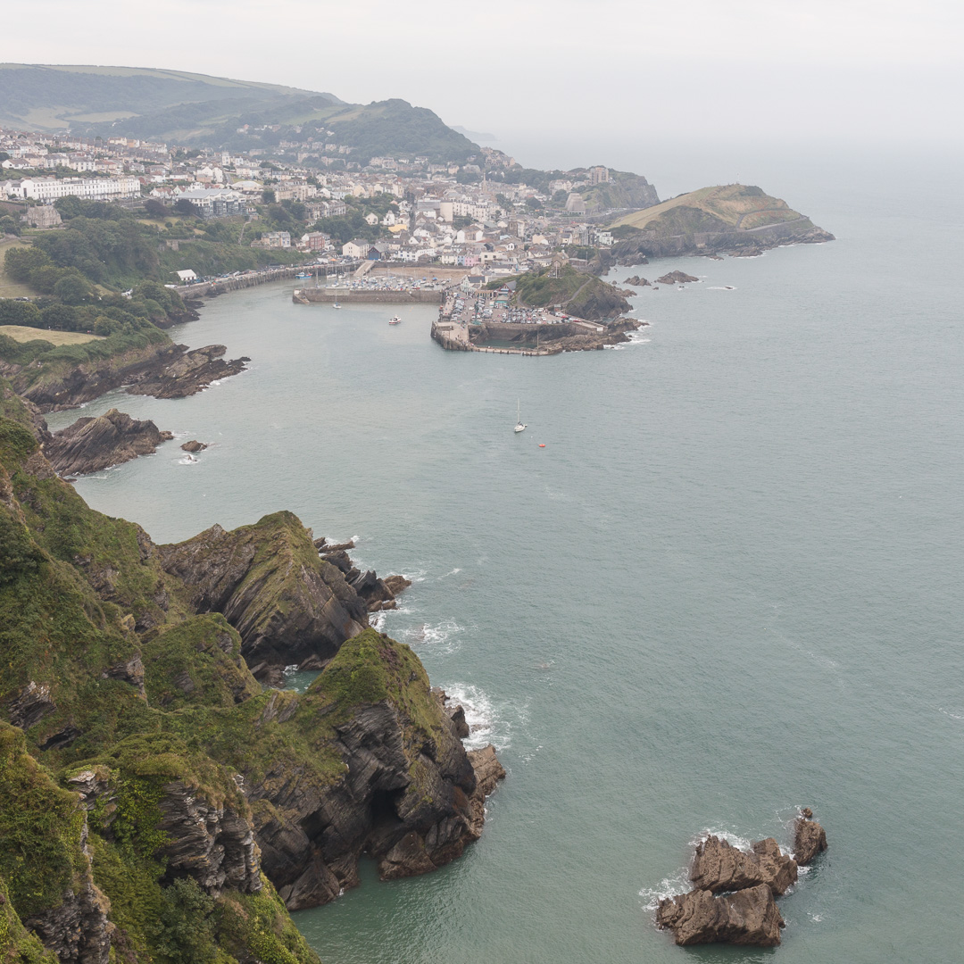 Ilfracombe from Beacon Point, Devon.