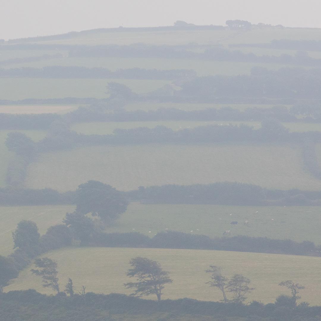 Exmoor fields from Holdstone Down, Devon.