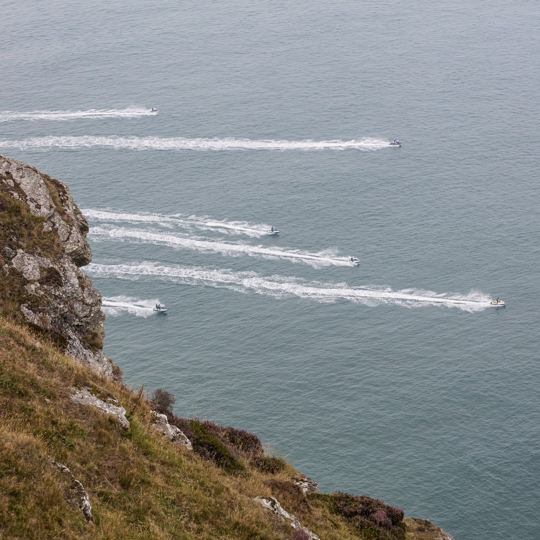 Jet Skiers from Highveer Point, Exmoor, Devon.