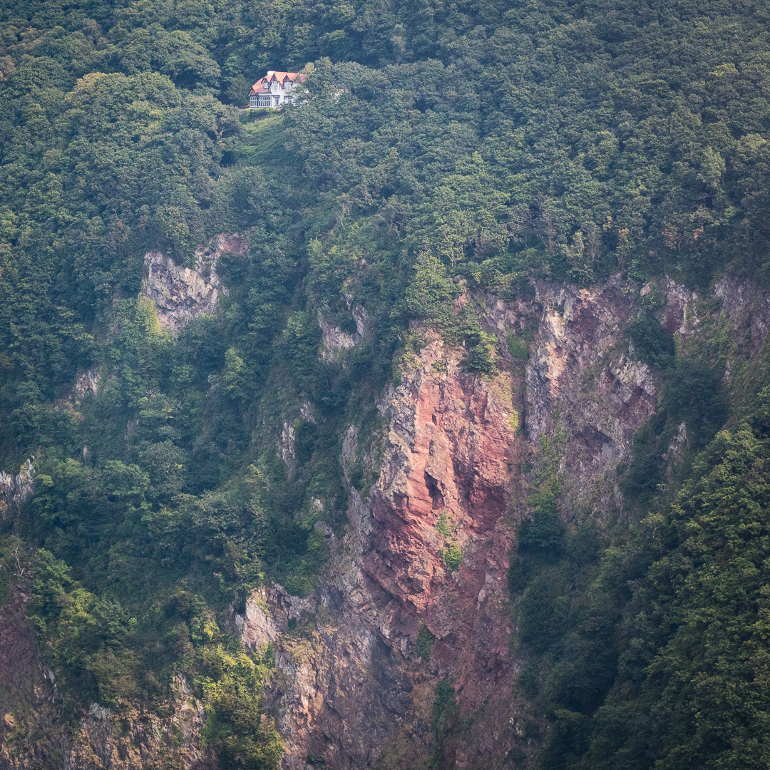 House above Woody Bay, Exmoor, Devon.