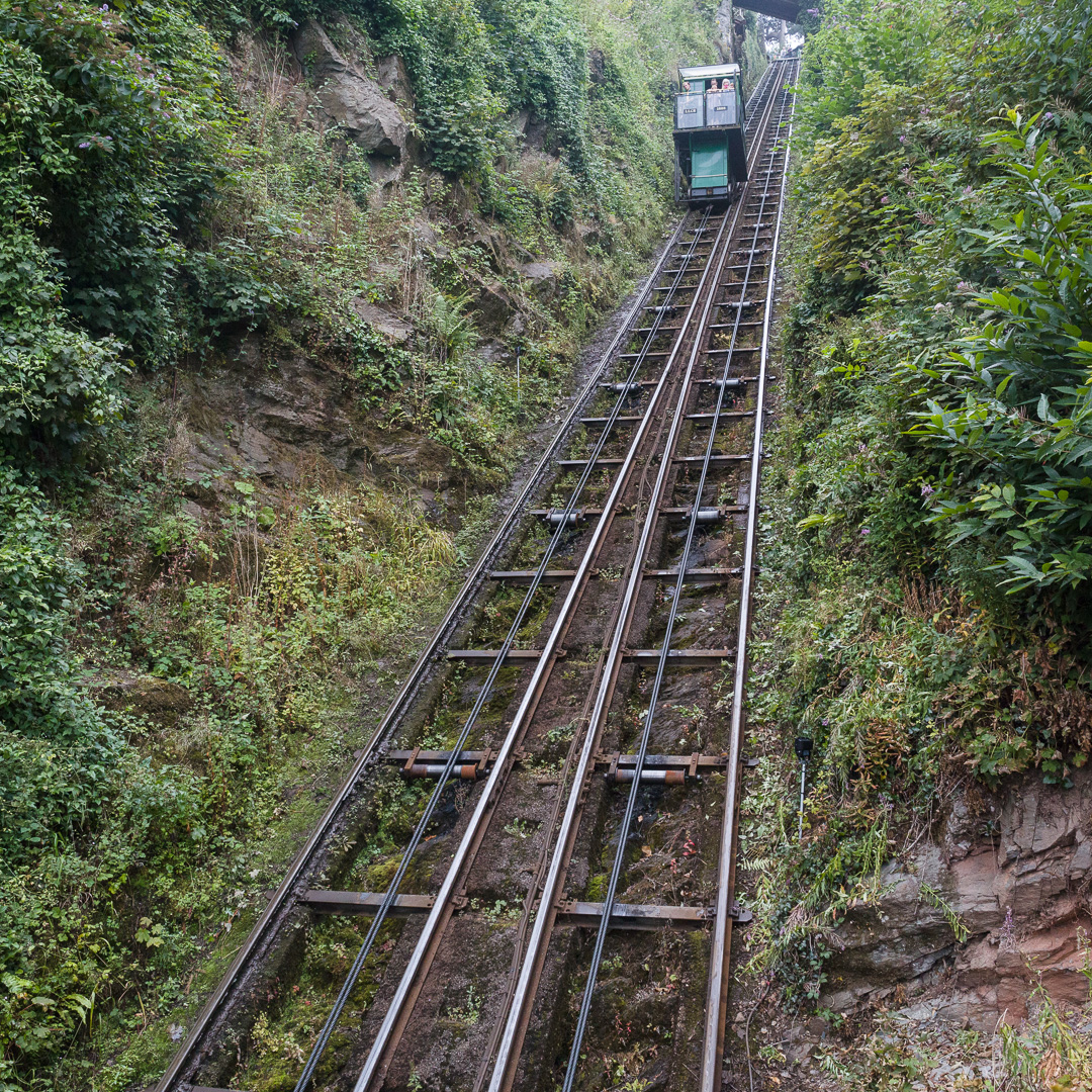 Lynton and Lynmouth Cliff Railway, Devon. Opened 1888, Devon.