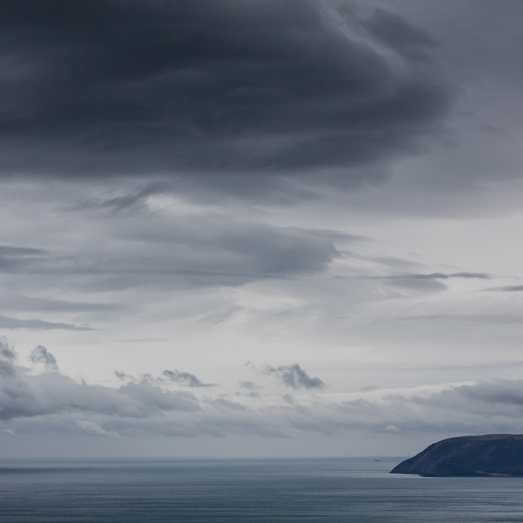 Heavy Sky above Hurlstone Point, Somerset.
