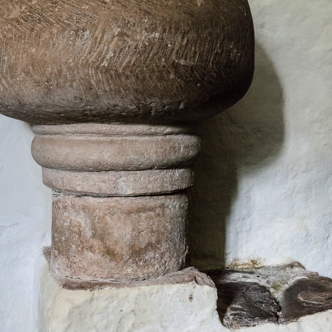 Anglo-Saxon bowl font, Culbone Church, Somerset.