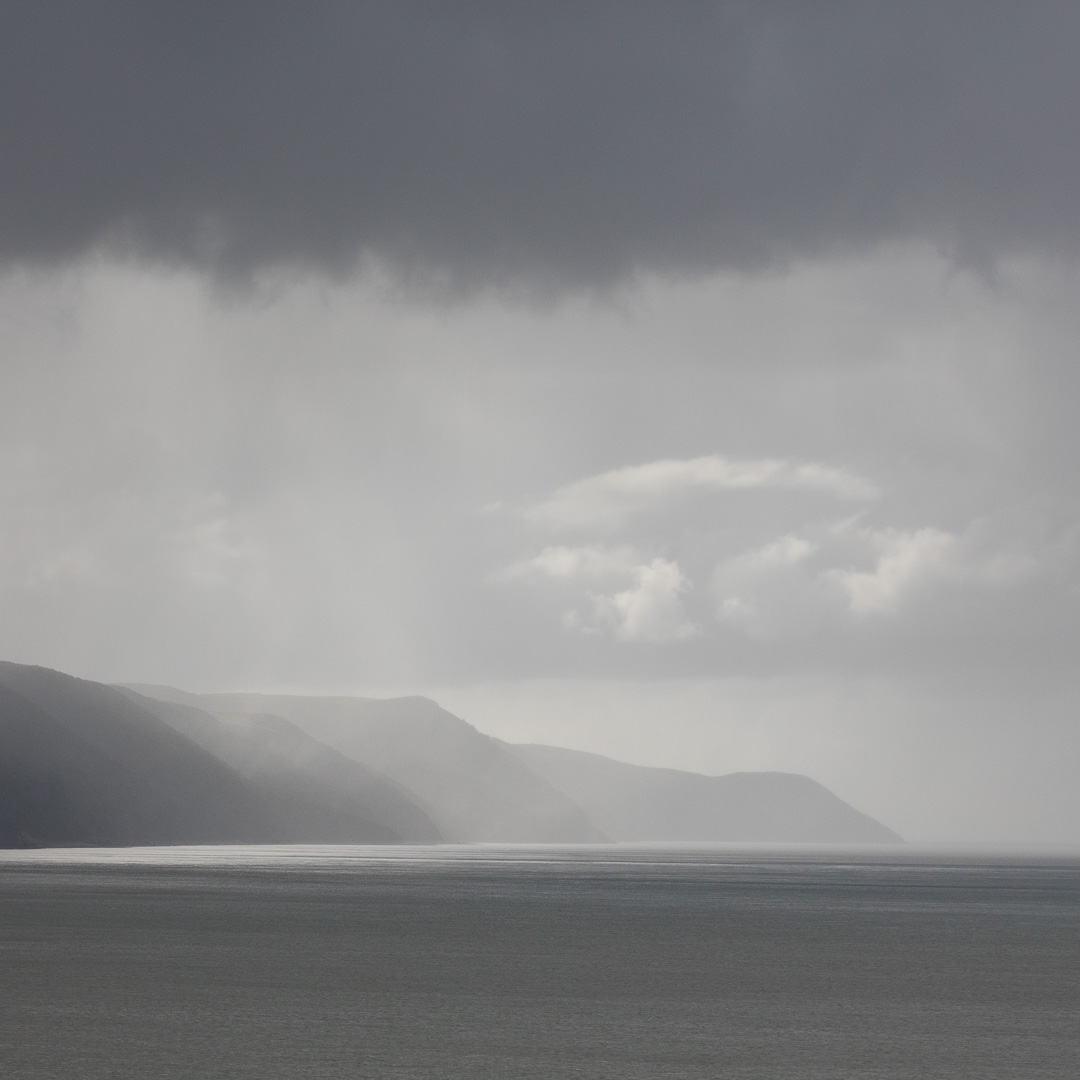 Culbone Hill and Exmoor coast from Hurlstone Point, Somerset.
