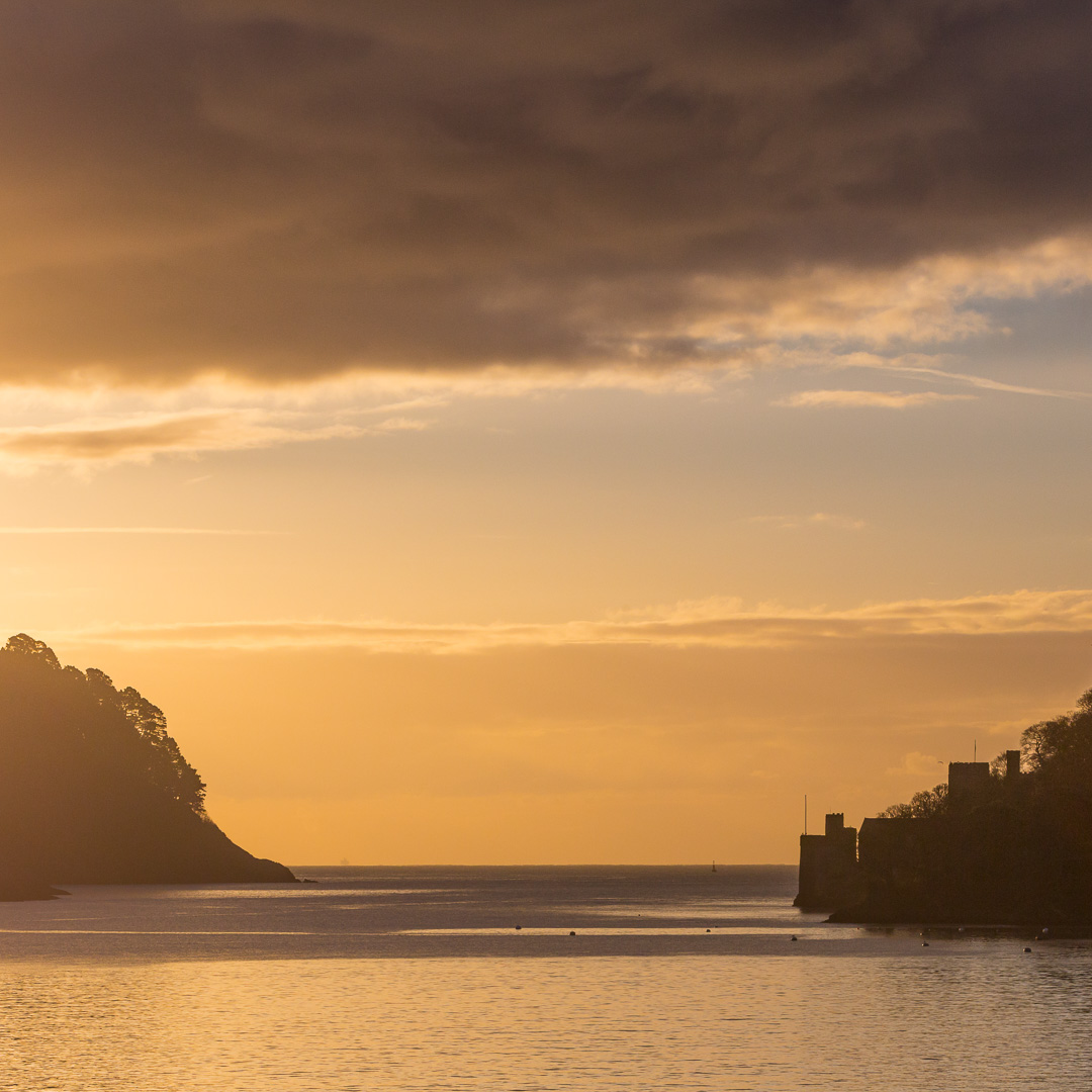 Dartmouth Castle at dawn, Devon.