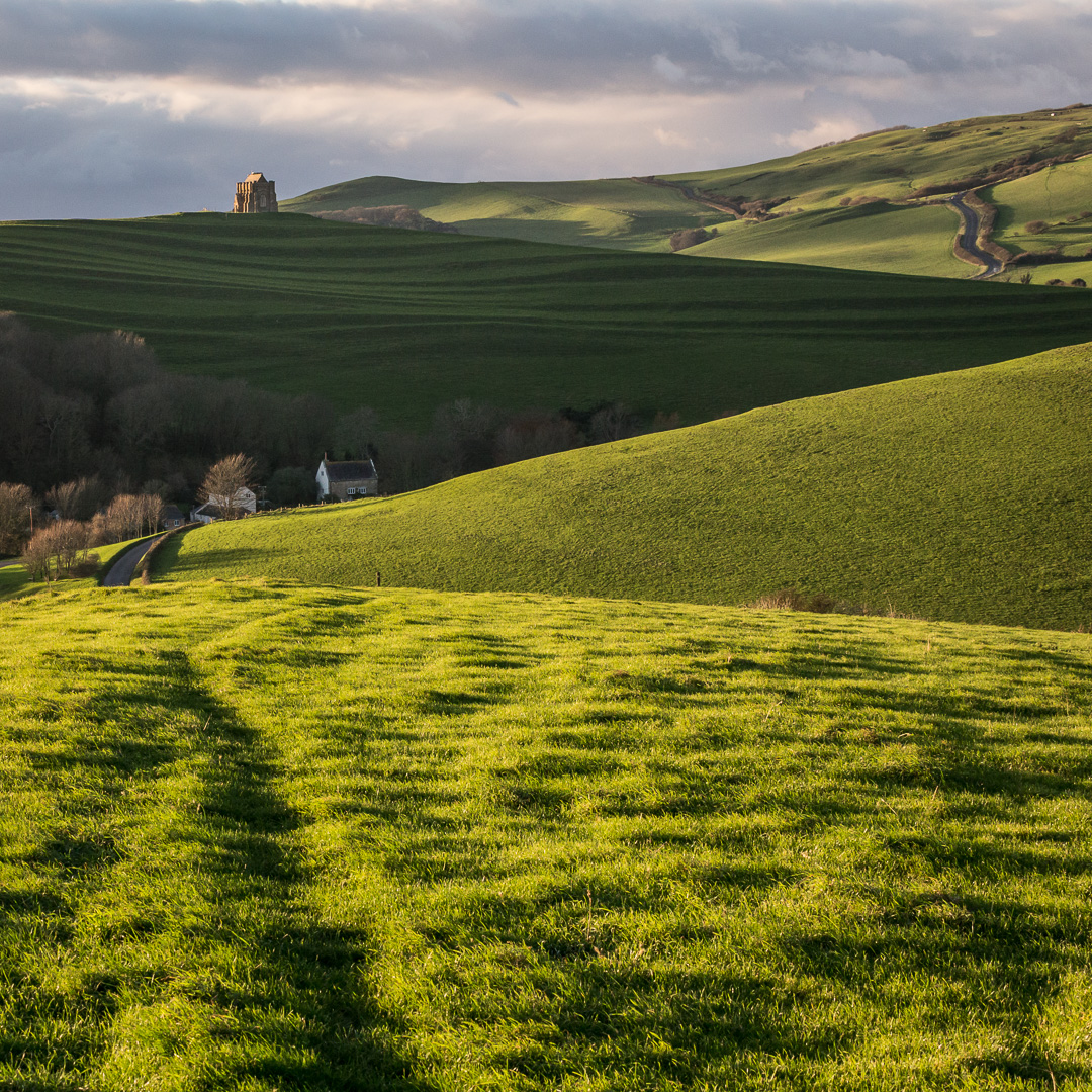 St Catherine's Chapel from Linton Hill, Abbotsbury, Dorset.