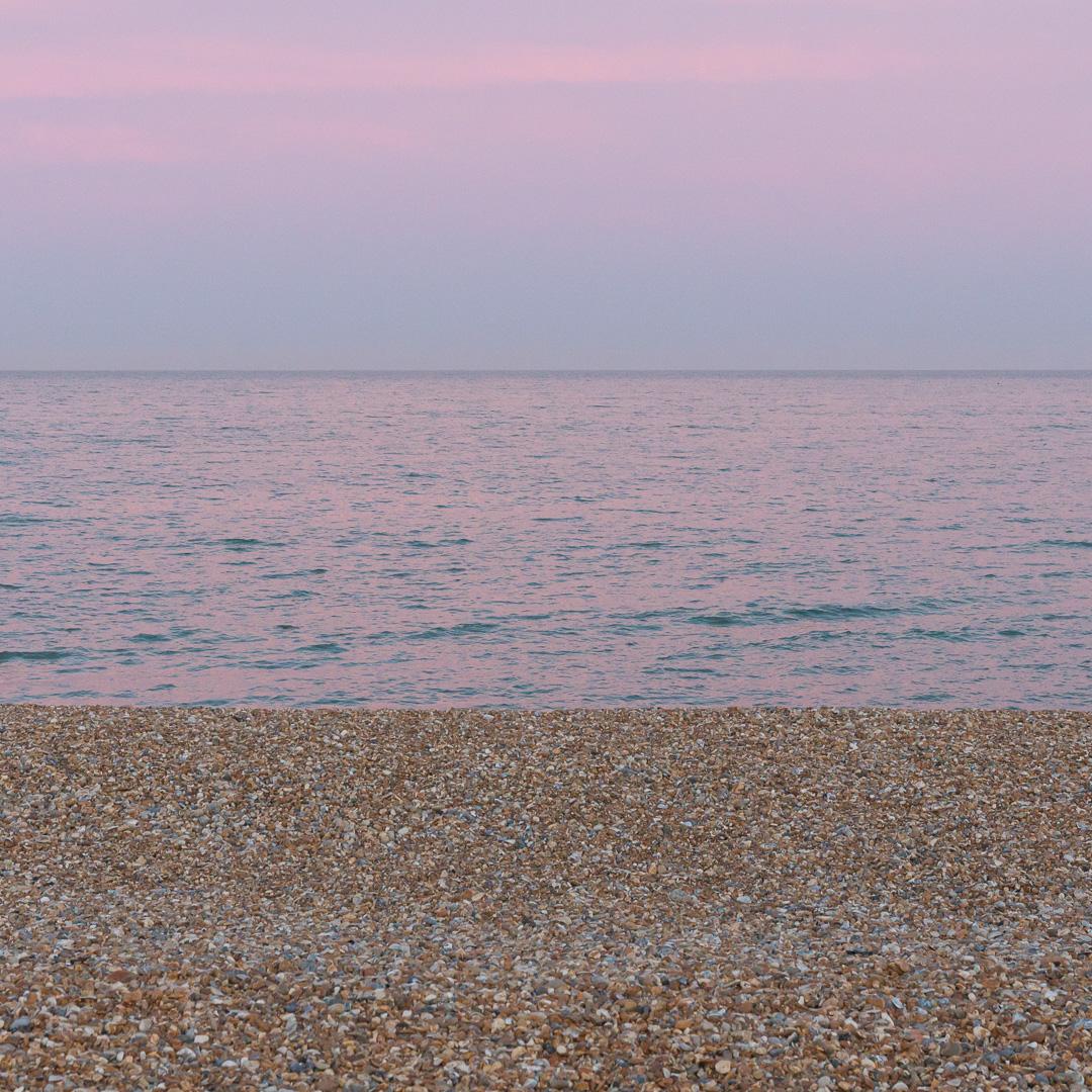 Eastbourne beach dusk, Sussex.