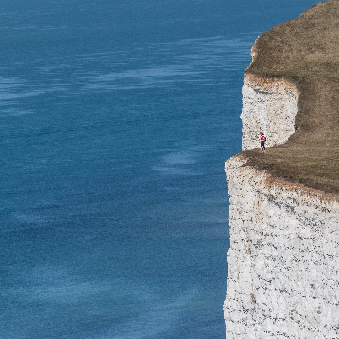 Chalk cliffs of the Severn Sisters, Sussex.