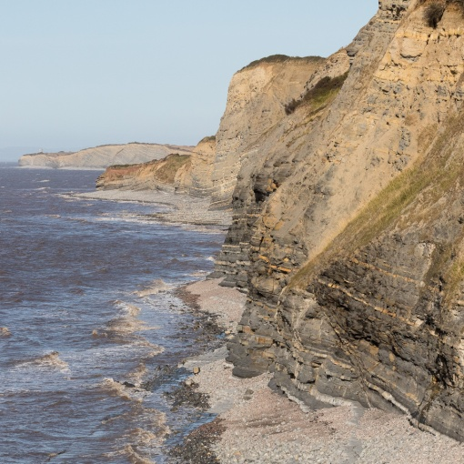 Cliffs below Quantock's Head, Somerset.