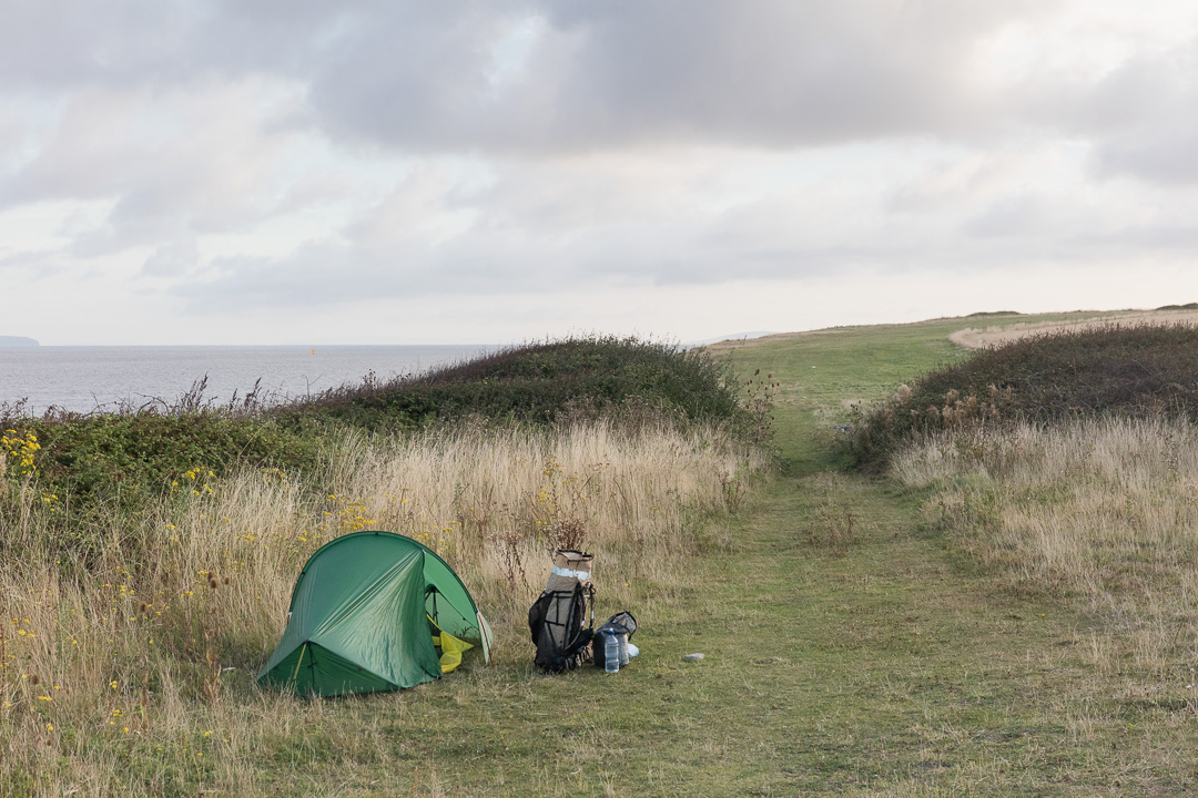 Camp, Hinkley Point, Somerset.
