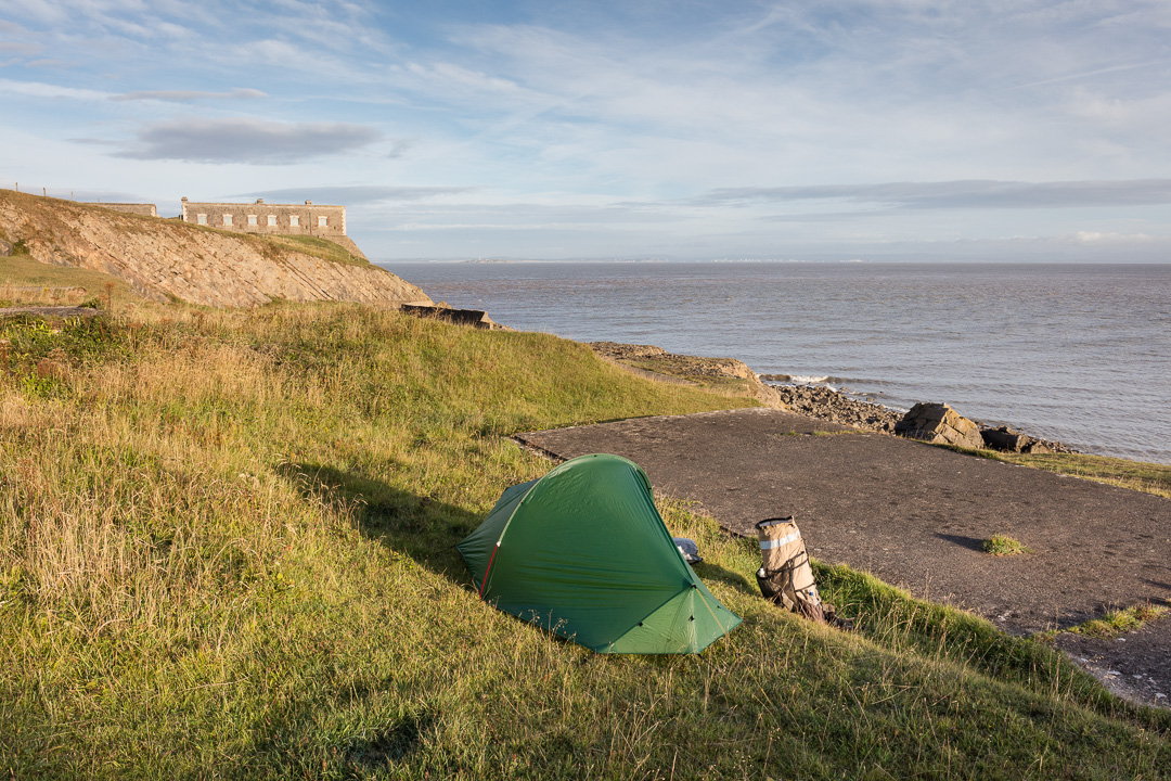 Camp, Brean Down Fort, Somerset.