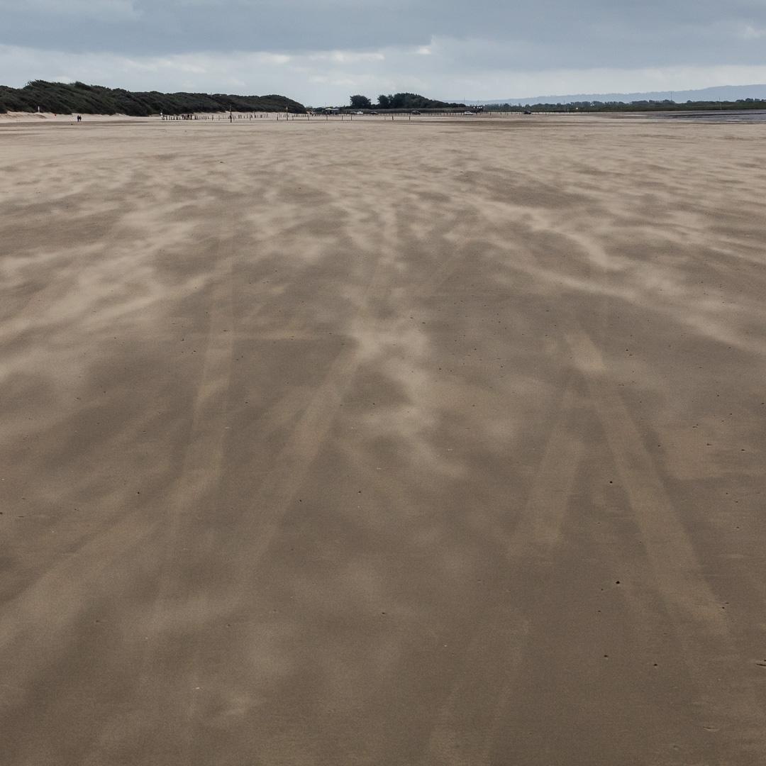 Blown sand on Weston beach, Weston-super-Mare, Avon.