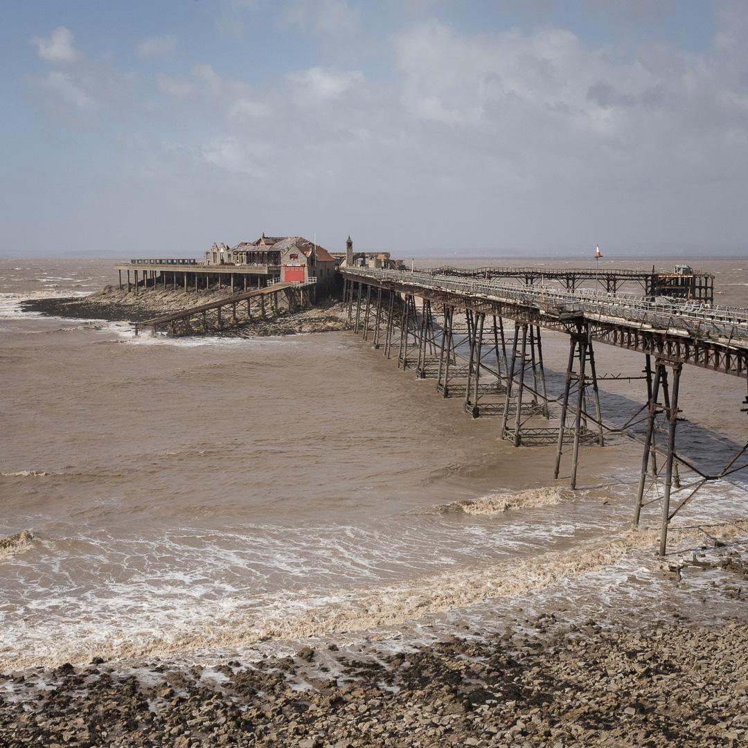Derelict Birnbeck Pier, Weston-super-Mare, Avon.