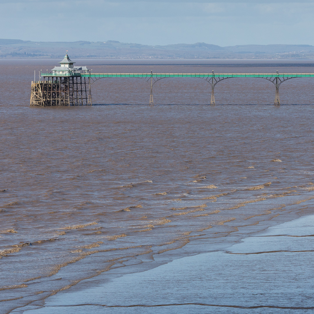 "Clevedon Pier, the only pier to be Grade I listed building and described by John Betjeman as ""the most beautiful pier in England"". Built 1869, Avon."