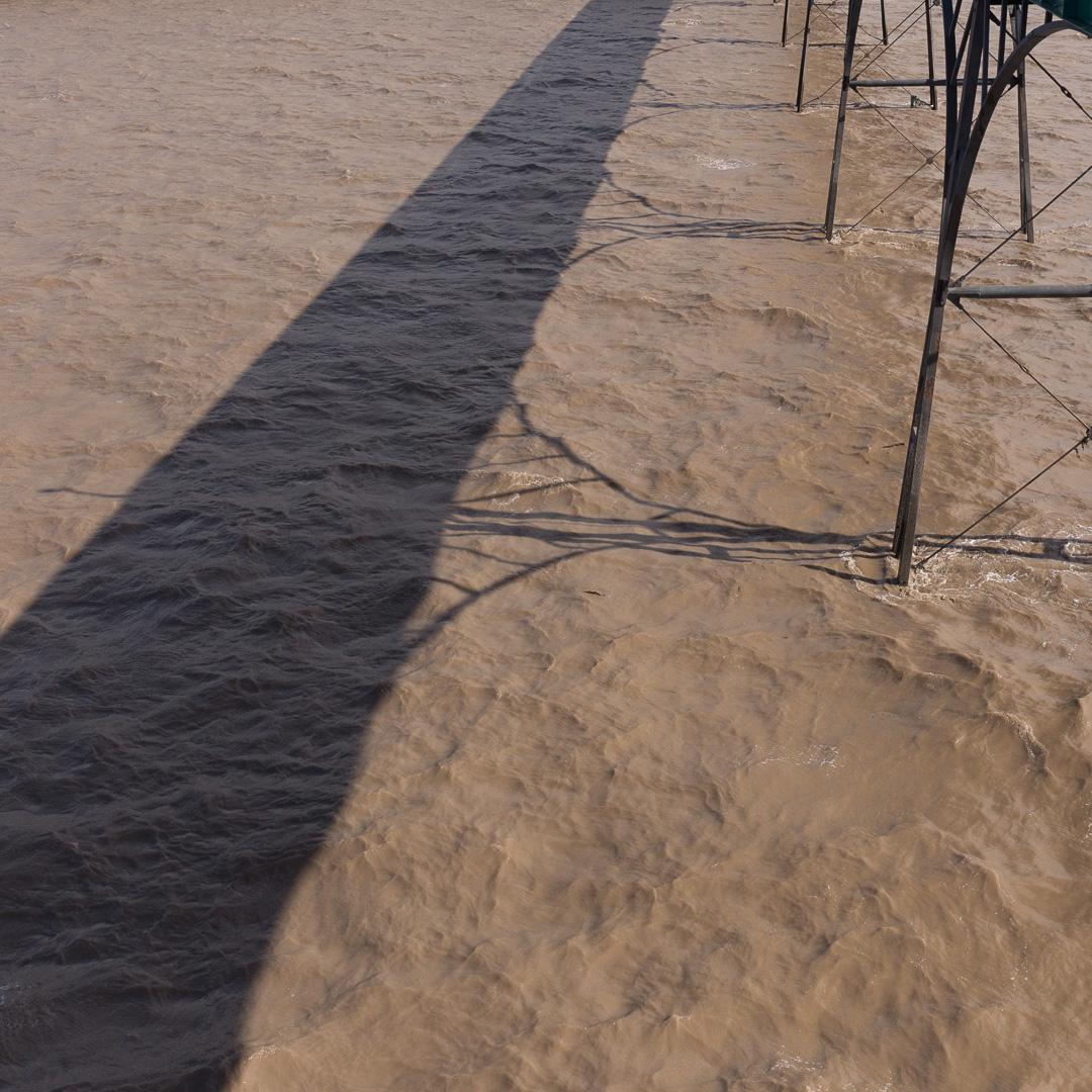 Gangway shadow, Clevedon Pier, Avon.
